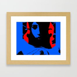 Blue Sky Red Hair Framed Art Print