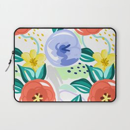 Flowers red pattern Laptop Sleeve