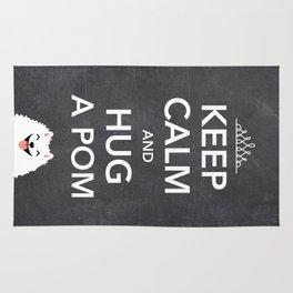 Keep Calm And Hug A Pom - Pomeranian Rug