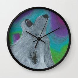 Howling at the Lights Wall Clock