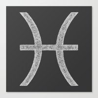 pisces Canvas Prints featuring Pisces by David Zydd