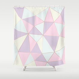 Pastel colors modern geometric triangles pattern Shower Curtain