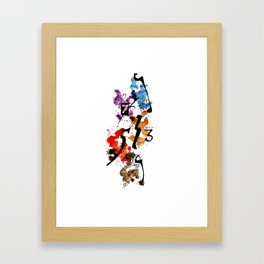 Typographic Number illustrations, watercolor,  3,4,5,7,9 by carographic Framed Art Print