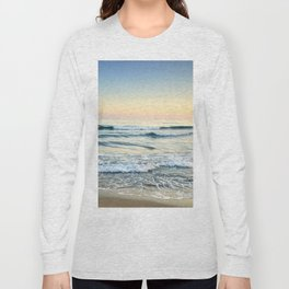 Serenity sea. Vintage. Square format Long Sleeve T-shirt