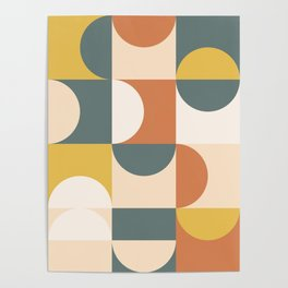 Mid Century Modern Geometric 23 Poster