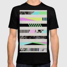 Crazy Lines - Pop Art, Geometric, Abstract Style Mens Fitted Tee Black MEDIUM