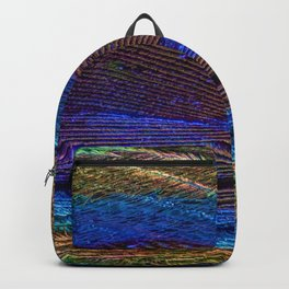 peacock feather close up Backpack