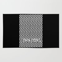 twin peaks Area & Throw Rugs featuring Twin Peaks by Spyck