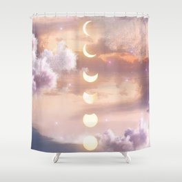 The Sea and the Moon Shower Curtain