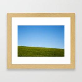 Grass and Sky Framed Art Print
