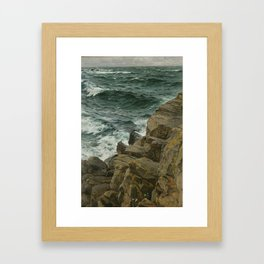 Bernd Lindholm - View of the Kattegat - Sacandinavian Fine Art Oil Framed Art Print