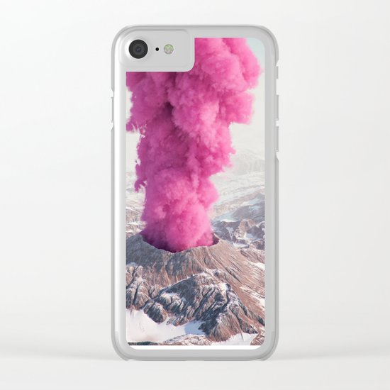 Pink Eruption Clear iPhone Case