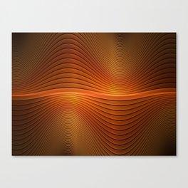 Orange Sine Wave Canvas Print