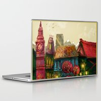 cities Laptop & iPad Skins featuring Cities by Elisa Gandolfo