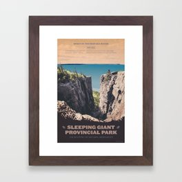 Sleeping Giant Provincial Park Framed Art Print