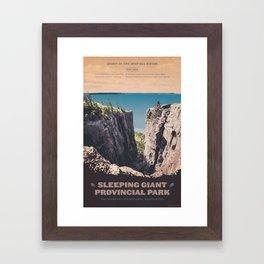 Sleeping Giant Provincial Park Framed Art Print