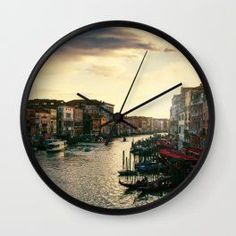 Venice on sunset Wall Clock