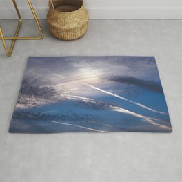 Crossroads in the Cloudy Sunset Rug