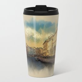 St. Petersburg, Moika river embankment. Travel Mug