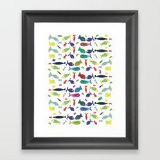 Happy colourful fish  Framed Art Print