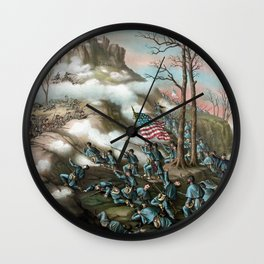 The Battle of Lookout Mountain Wall Clock