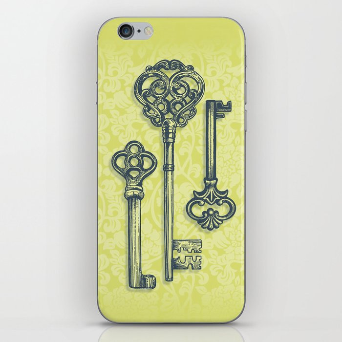 Three Skeleton Keys iPhone Skin