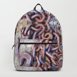 Chained hearts abstract photography Backpack