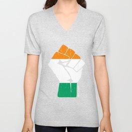 Team Cote DIvoire Flag Shirt Unisex V-Neck