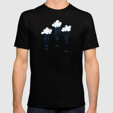 Head in the Clouds Mens Fitted Tee Black MEDIUM