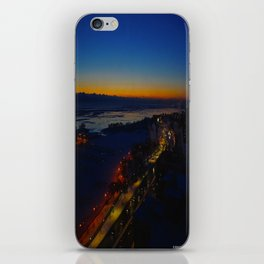 Contrast at Dusk/Clear Sky and Lake Effect (Chicago Sunrise/Sunset Collection) iPhone Skin