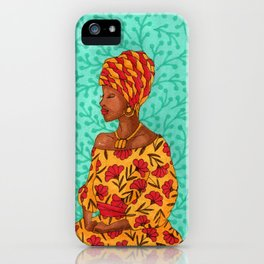 Luisa. Beautiful woman collection iPhone Case
