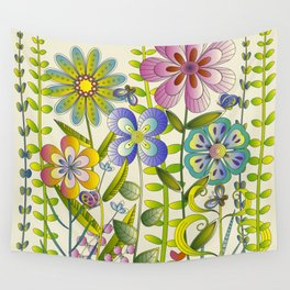 Petty Flowers Pattern 2 Wall Tapestry