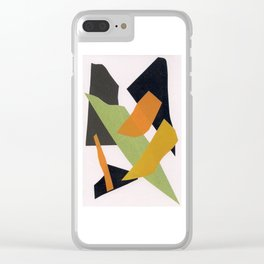 Abstract multicolor ing Clear iPhone Case
