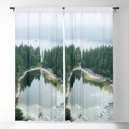 Forest Lake behind a large lake in the forest – Landscape Photography Blackout Curtain