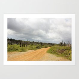 Grey Clouds over Bonaire Island in the Caribbean Art Print