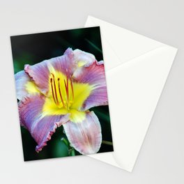 Lavender And Yellow Lily Stationery Cards