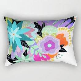 Love Blooms - Rainbow - text free Rectangular Pillow