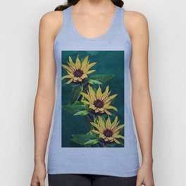 Watercolor sunflowers Unisex Tank Top