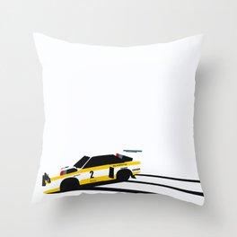 Quattro Slide Rally Car Throw Pillow