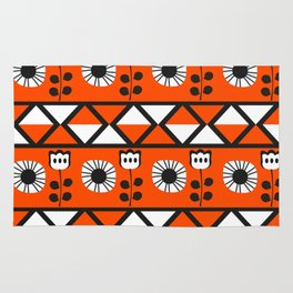 Shapes and flowers Rug