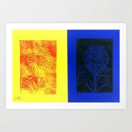 Sunflower Printwork Art Print