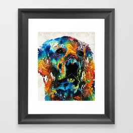 Colorful Dog Art - Heart And Soul - By Sharon Cummings Framed Art Print