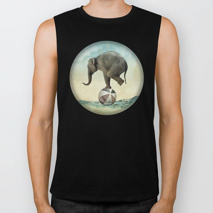 Elephant at Sea Biker Tank