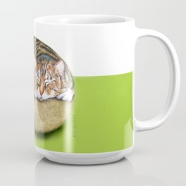 The Living Rocks : Painted cat sleeping on a rock Coffee Mug