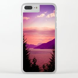Sunset Sea to Sky Clear iPhone Case