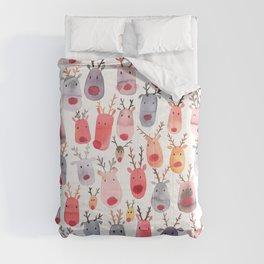 Christmas Winter Cute Reindeers Comforters