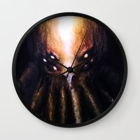 cthulhu Wall Clocks featuring Cthulhu by JeyJey Artworks