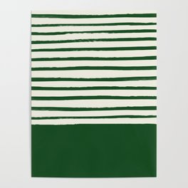 Holiday x Green Stripes Poster