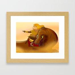 Desert Knight Framed Art Print