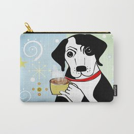 Dog On Coffee Break Carry-All Pouch
